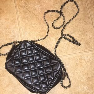 Black cross body purse